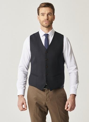 Altınyıldız Classics yıldız Classics 4A3421100005 Slim Fit Kombinli Nano Takım Elbise Lacivert